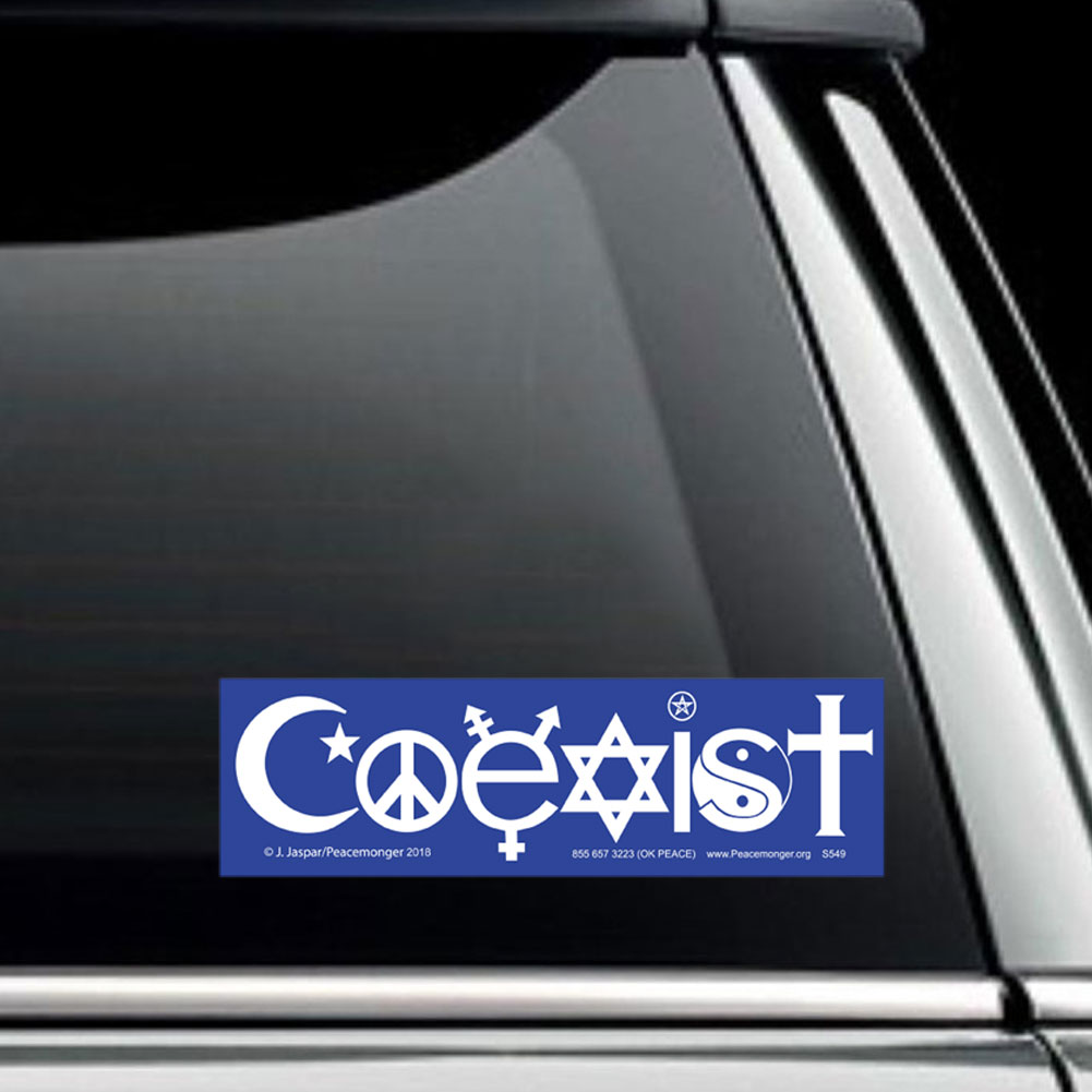 S549 transgender coexist interfaith peace symbol sticker decal biocorpaavc