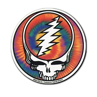 A419-MAG Grateful Dead Steal Your Face Tie Dye Bolt SYF Art Decal Sticker Magnet