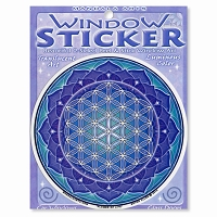 A435 Flower of Life Yoga Meditation Lotus Mandala Bryon Allen Art Decal Sticker