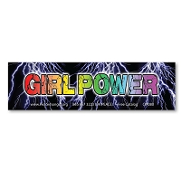 CM080-MAG Girl Power Women's March Protest Rally Sign Mini Sticker Decal MAGNET