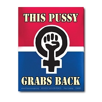 CS368 This Pussy Grabs Back Womens March Protest Rally Sticker Decal