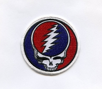 P016 - 1.75 inch SYF Steal Your Face Small Embroidered Patch