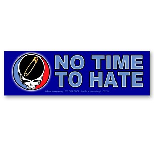 CS274 - NO TIME TO HATE - Safety Pin Steal Your Face Color Sticker